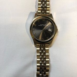 Marc Jacobs Gold and grey face women's watch